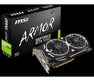 MSI NVIDIA GEFORCE GTX 1060 ARMOR 6G OC GRAPHIC CARD V1 GDDR5 192BIT DX12 DUAL-LINK DVI-D X 1 DISPLAYPORT