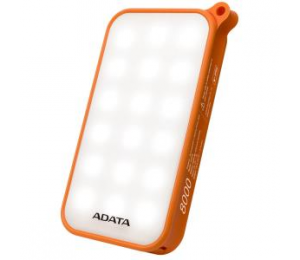 ADATA TECHNOLOGY ADATA D8000L 8000MAH POWER BANK (ORANGE) COMBINES ADATA POWER BANK AND LED WITH