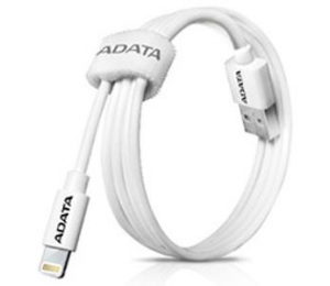 Adata Technology Adata Lightning Cable Alum. (White) With Strong Multi-Layered Construction And