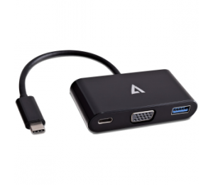 V7 Usb-c Vga Multiport Adapter V7ucvga-hub-blk-1an