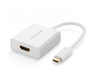 UGREEN Cable Adapter: TYPE-C USB-C to HDMI Converter Adapter 4K*2K@30Hz(Max) Windows/ MAC White