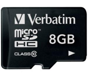 Verbatim Micro SDHC 8GB (Class 10) 44012 220032