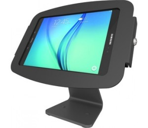 Compulocks Secure Space Enclosure With 360 Degree Counter Stand For Galaxy Tab A 10.5In - Black