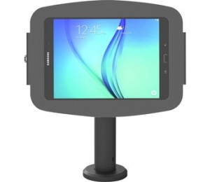 Compulocks Secure Space Enclosure With Rise 60Cm Pole Mount For Galaxy Tab A 10.5In - Black Tcdp03105Ageb