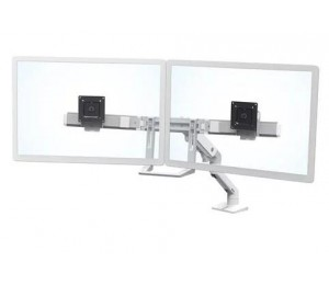 Ergotron Hx Desk Dual Monitor Arm White 45-476-216