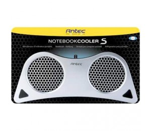 Antec Notebook Cooler S - Silver, Usb Powered, Dual 80x15mm Double Ball Bearing Fan, 2-speed Fan 194192