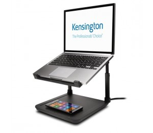 """KENSINGTON SMARTFIT RISER WITH WITH QI WIRELESS CHARGING FOR UP TO 15.6"""" NOTEBOOK 52784"""