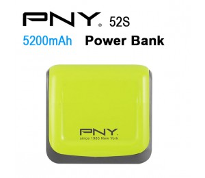 Pny Power Bank 52s Green 5200mah 2 Usb Output 52s-green