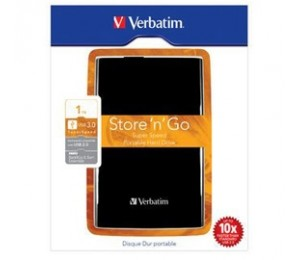 "Verbatim 1TB 2.5"" USB3 Black Backup Software, 2YR WTY HXV-SG1TBBLK"