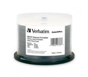 Verbatim Bd-r 25gb 50pk White Wide Thermal 6x 97338