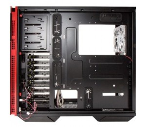 IN WIN 707F Full Tower PC Case - Aluminum Frame, Side Window, Water Cooling Ready, No Power Supply (Black)