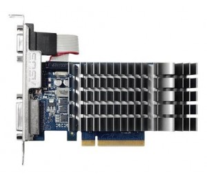 Asus GeForce GT710 Silent Edition PCI Express 2.0 1GB 64-bit DDR3 954MHz 1x D-Sub/ 1x DVI/ 1x