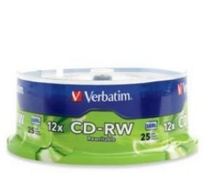 Verbatim CDRW 700MB 25Pk 95155