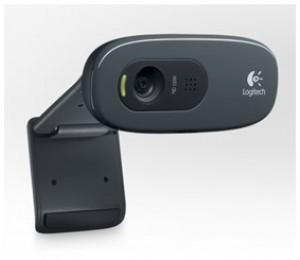 Logitech Webcam: C270 HD 720p video calling, 3 megapizel snapshots, built in mic, right light technology