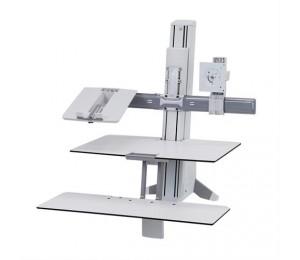 ERGOTRON WORKFIT CONVERSION KIT: DUAL TO LCD & LAPTOP WHITE 97-938-062