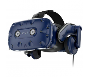 Htc Vive Pro Ed Virtual Reality Headset - Blue Dual Oled 2880 X 1600 615 Ppi With Vive Pro Audio