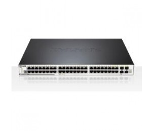 D-LINK 48 Gigabit ports with PoE/PoE+ support, 4 Combo SFP/UTP ports, 2 Stacking ports DGS-3120-48PC