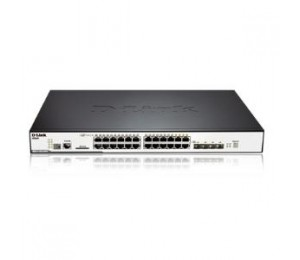 D-LINK 24-Port 10/100/1000Mbps & 4-Port Combo SFP L2 Stackable Managed Switch with POE DGS-3120-24PC