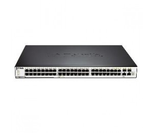 D-LINK 48-Port 10/100/1000Mbps & 4-Port Combo SFP L2 Stackable Managed Switch DGS-3120-48TC