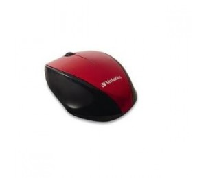 VERBATIM Wireless Optical Multi-Trac Blue LED Mouse - Red 97995