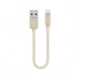 BELKIN MIXITUP METALLIC LIGHTNING CHARGE/SYNC CABLE 15CM - GOLD F8J144BT06INGLD
