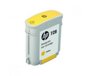 HP INK CARTRIDGE No 728 Yellow 40ml F9J61A