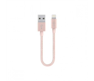 BELKIN METALLIC MIXITUP LIGHTNING CABLE 15CM ROSE GOLD F8J144BT06INC00