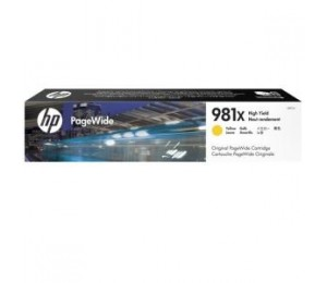 HP 981X YELLOW ORIGINAL PAGEWIDE CRTG L0R11A 226076