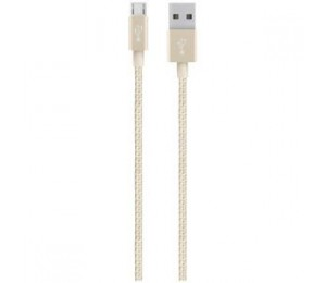 BELKIN MIXITUP DURATEK MICRO USB CABLE GOLD F2CU051BT04-GLD