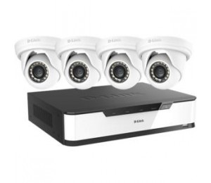 D-LINK DNR16-4802-4 FULL HD SURVEILLANCE STARTER KIT (16 CH NVR WITH 4X FULL HD CAMERAS)