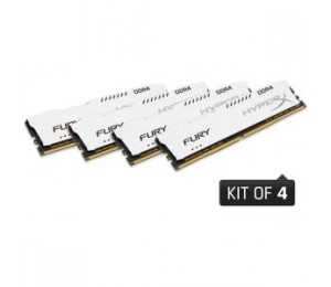 Kingston 32gb 2400mhz Ddr4 Cl15 Dimm (kit Of 4) 1rx8 Hyperx Fury White Hx424c15fw2k4/32