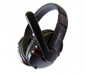 OVLENG USB Computer Headphones with Mic and Volume Control AHSOVLQ7MVBLAK