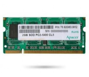 Apacer Ddr2 Sodimm Pc6400-2gb 800mhz Cl5 G Retail Pack