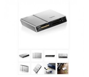 Apacer Megasteno Am404 External Usb2 Card Reader Reads Sdhc, Mini Sdhc, Mmc, Ms Pro Duo And M2