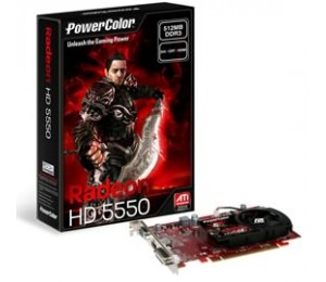 Powercolor Ax5550-512mk3-h Radeon Hd5550, 512mb, Gddr3, Pcie2.0, Dvi, Hdmi, Vga, Fan
