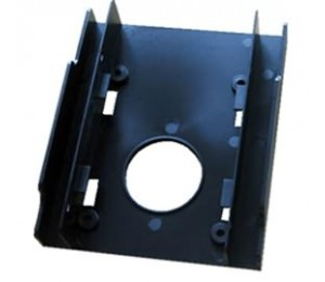 """Dual 2.5"""" to 3.5"""" SSD Bracket Adapter Compatible with 2.5"""" SSD or HDD Form Factor: 3.5"""" Colour"""