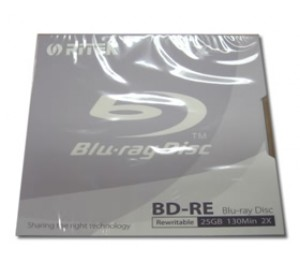 Ritek Blu-Ray BD-RE Rewritable 25GB 2X 130Min Jewel Case BMDRITBLU-RRW01