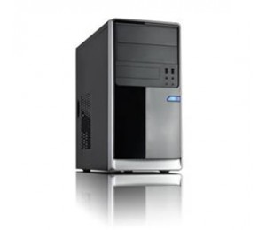 Casecom Cm13 Matx W/ 550w Black/ Silver Usb3+usb2, Hdaudio Cacc-cm13bs550w