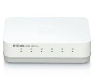 D-link Unmanaged 5-port 10/ 100/ 1000base-t Switch Dgs-1005a