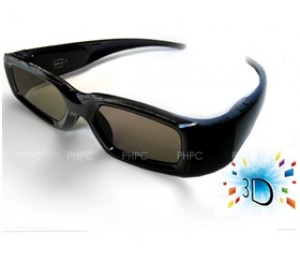 3d Active Glasses (universal) For All Competitive 3d Tv With Ir Technology Ele3dglasactive