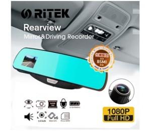 Ritek Full HD 1080 CRMT 01 Rearview Mirror+ Driving Recorder ELERTKCRMT01