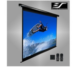 "Elite Screens - Electric 120V - 120"" Electric Top-Down Screen - 1829 x 2438 - 4:3 Video Format"