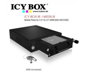 Icy Box (ib -148ssk-b) Mobile Rack For 3.5 Inch & 2.5 Inch Sata/ Sas Hdd/ Ssd Hddicy148sskb