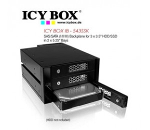 Icy Box (ib - 543ssk) Sas/ Sata (i/ Ii/ Iii) Backplane For 3 X 3.5 Inch Hdd/ Ssd In 2 X 5.25 Inch
