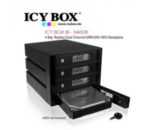 ICY BOX (IB - 544SSK) 4 Bay Trayless Dual Channel SATA/ SAS HDD Backplane HDDICY544SSK