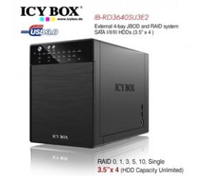 ICY BOX IB-RD3640SU3E2 External 4-Bay JBOD System for 3.5 Inch SATA HDDs HDDICYRD3640SU3E2
