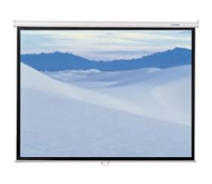 "RedLeaf 75"" Manual HT Screen, 1140 x 1530, 4:3 Video Format, Matt White Surface"