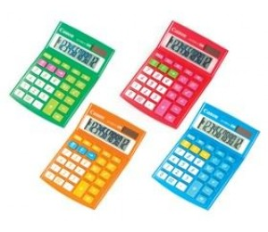 Canon Ls120viir 12 Digit Calculator Red Ls120viir