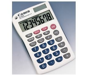 Canon Ls330h 10 Digit Extra Large Lcd Pocket Calculator Ls330h