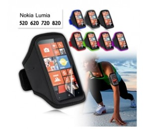 Ezcool Gym Running Sport Armband For Nokia Lumia 720 Bonus Screen Protector Mobvmxarmbandnok